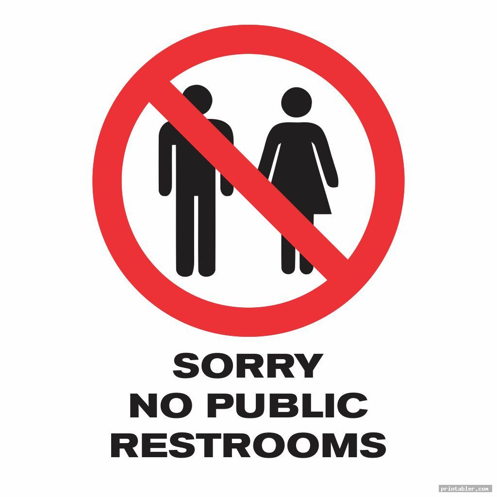No Public Restroom Sign Printable