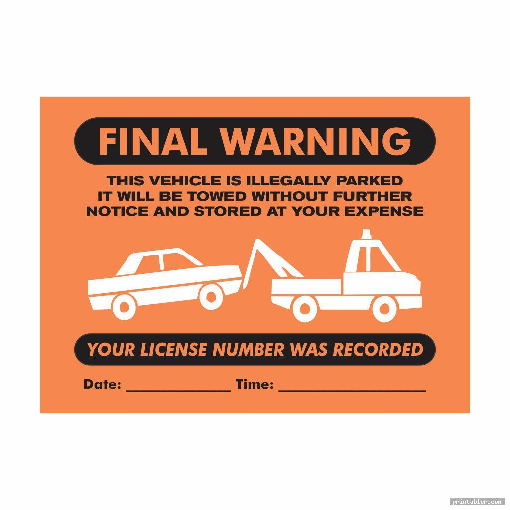 Parking Violation Ticket Template Printable