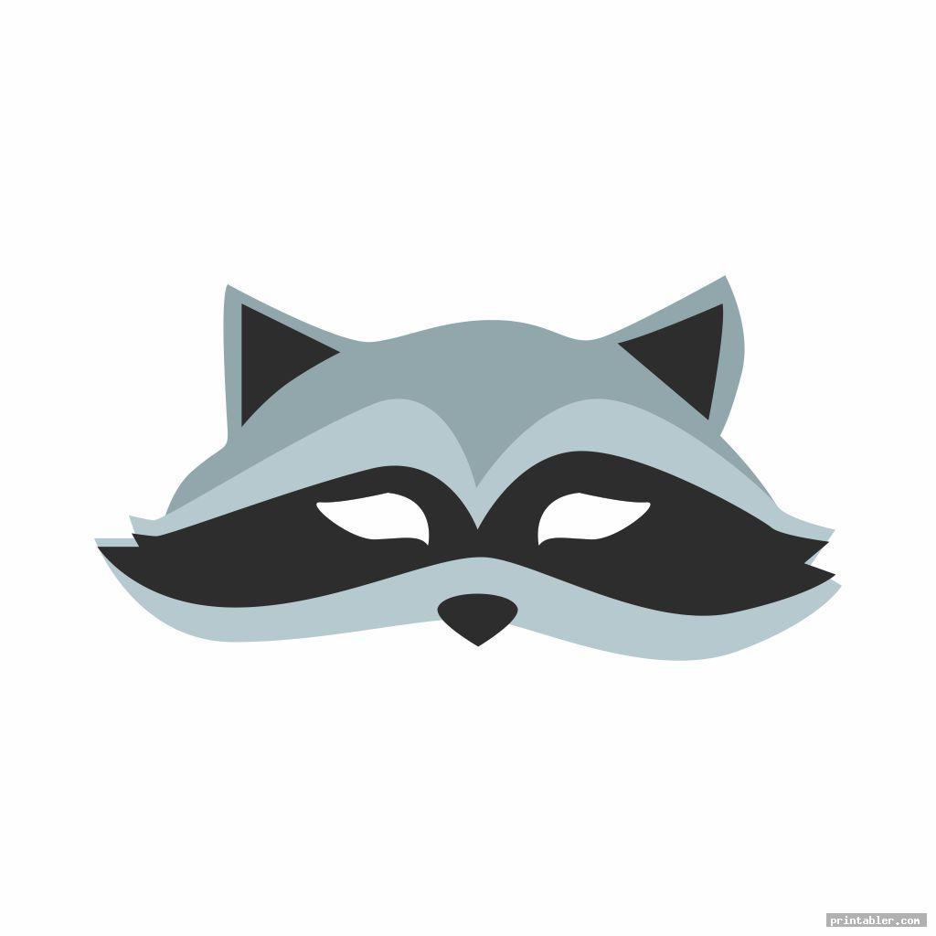 cool raccoon mask printable