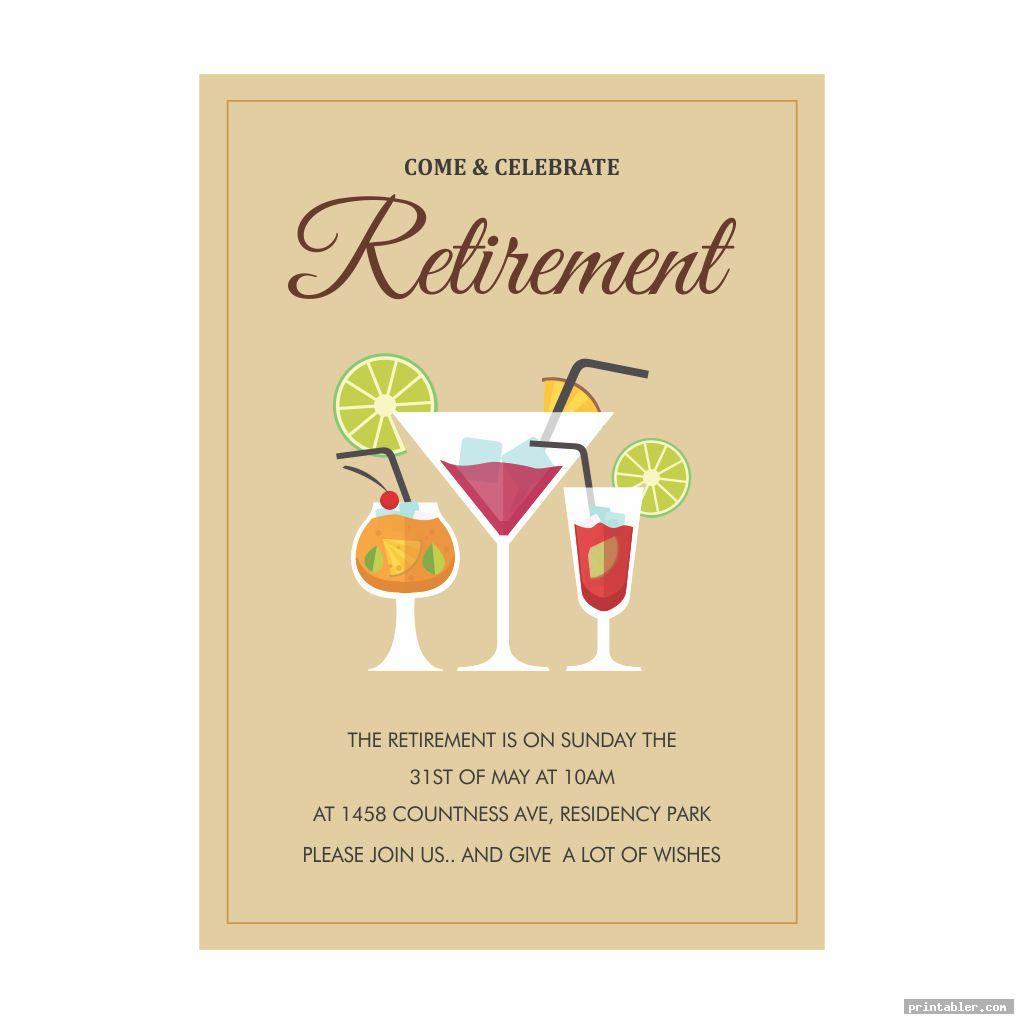 Retirement Flyer Printable - Template and Designs