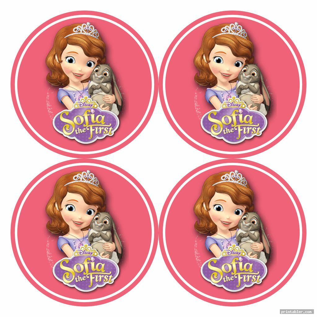 Sofia The First Cupcake Toppers Printable