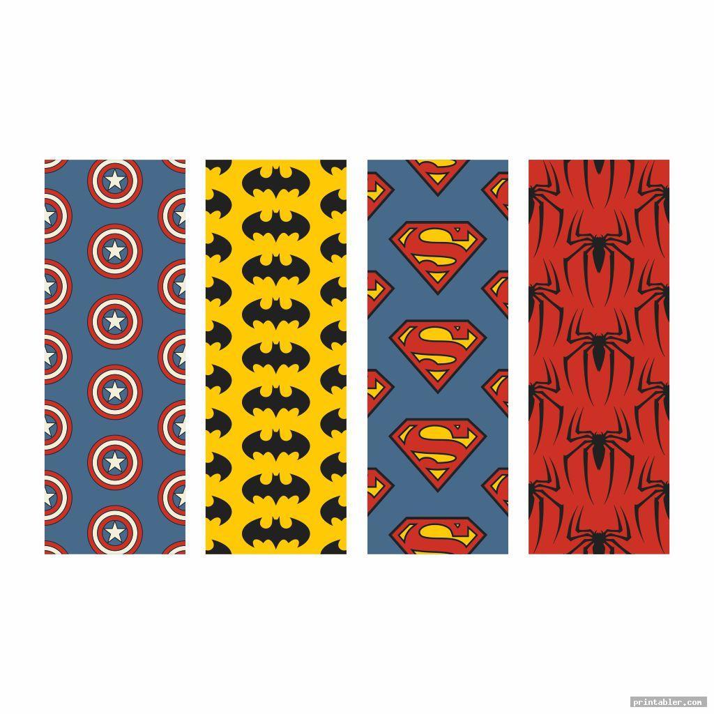 cool superhero bookmarks printable
