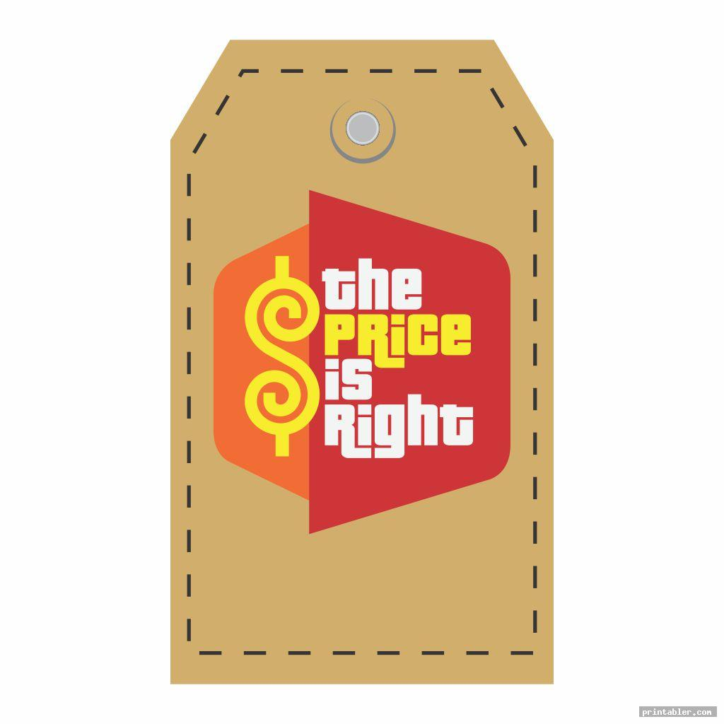 The Price Is Right Name Tag Template Printable