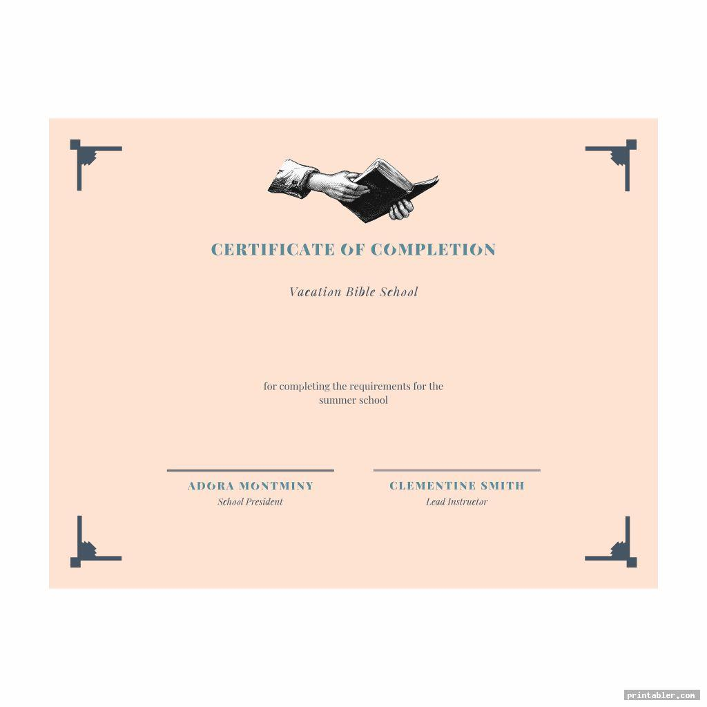 cool vbs certificate templates printable