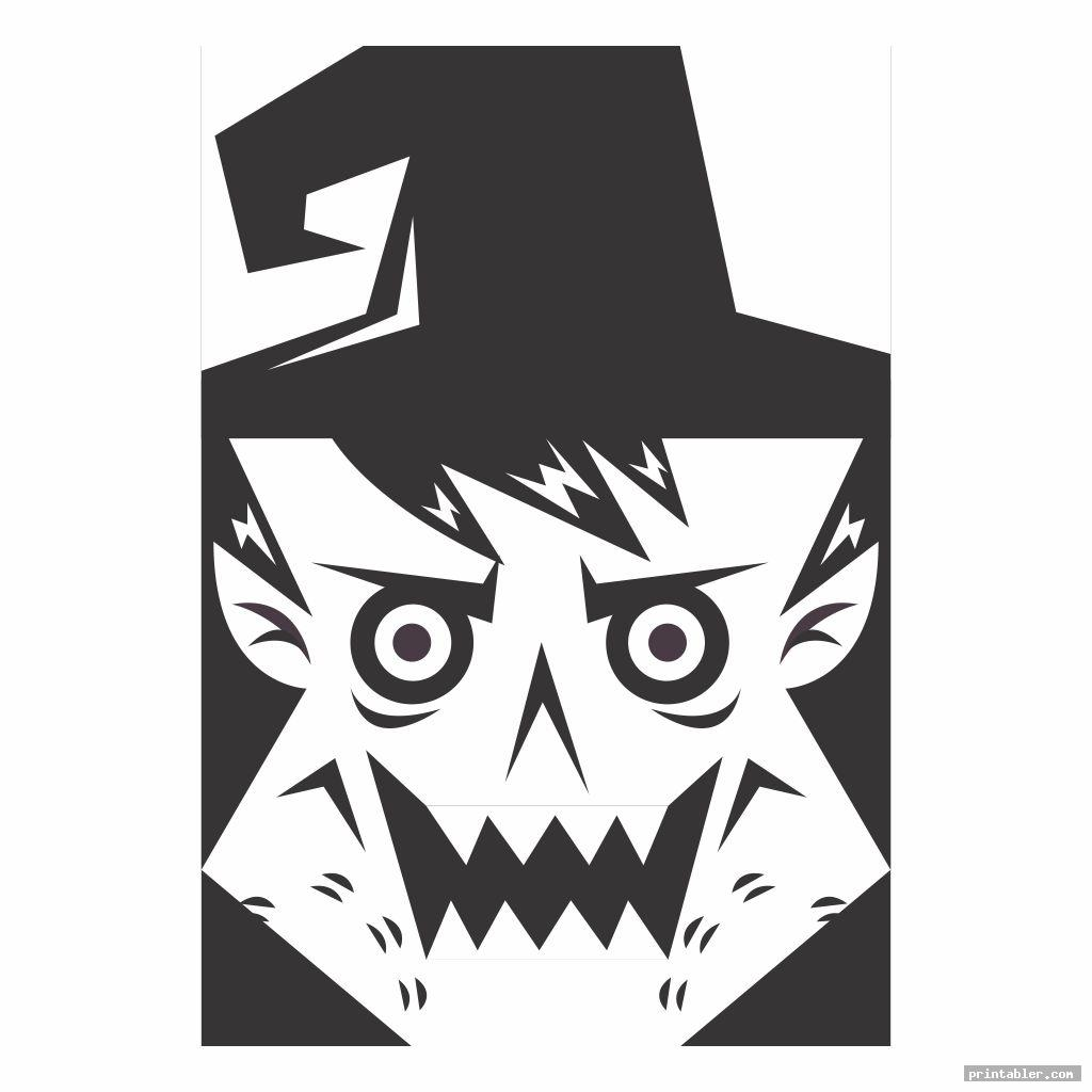 Witch Face Stencil Printable