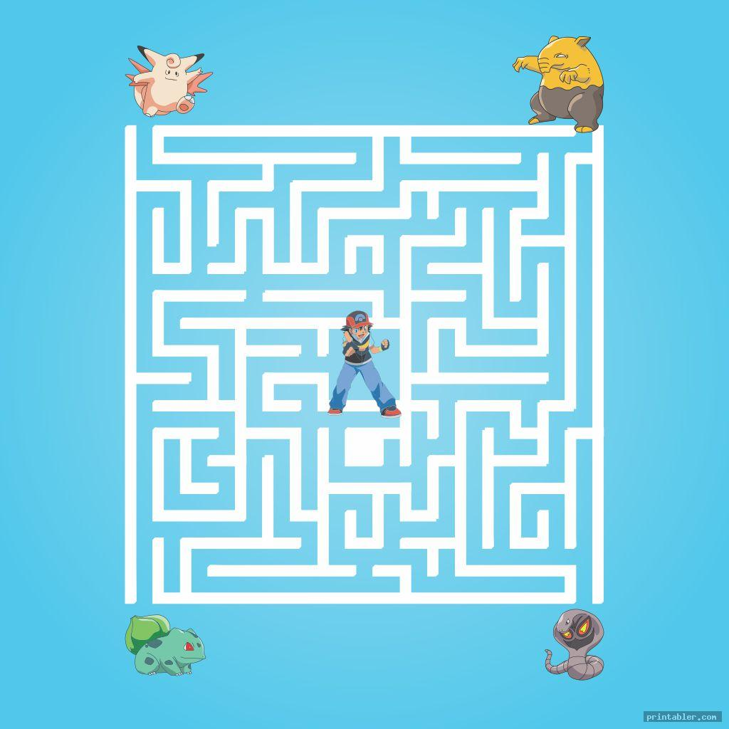 coose your pokemon maze printable