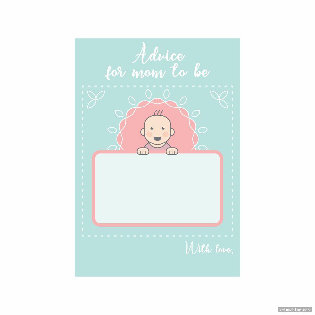 cute baby advice cards printable