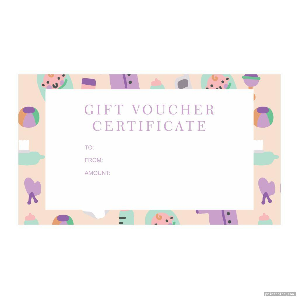 cute babysitting gift certificate template printable