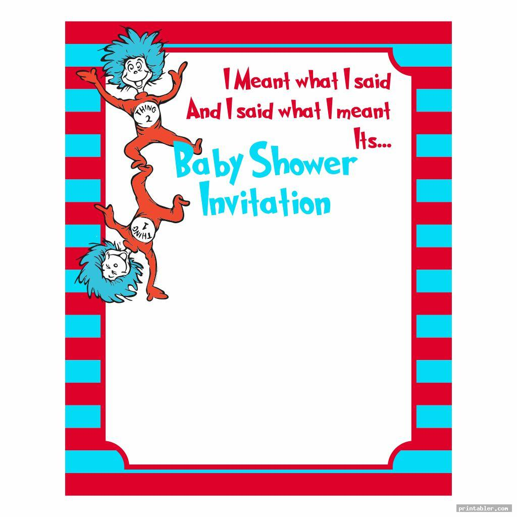 cute dr seuss baby shower invitation template printable