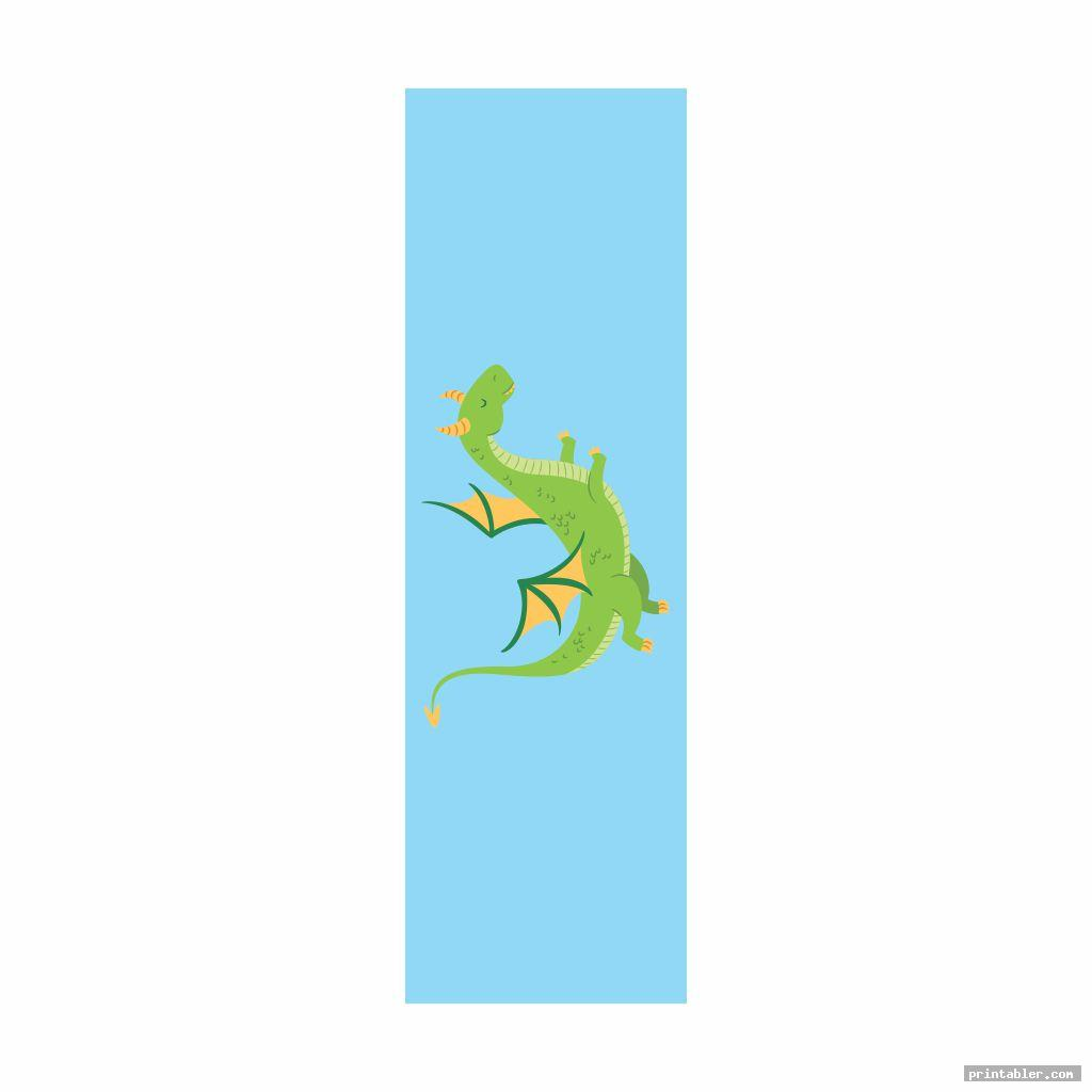 cute dragon bookmarks printable