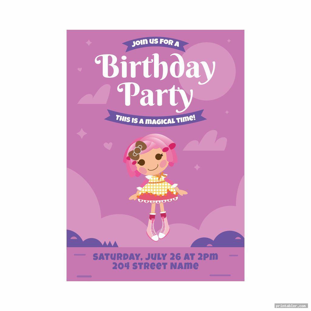 cute lalaloopsy birthday invitations printable
