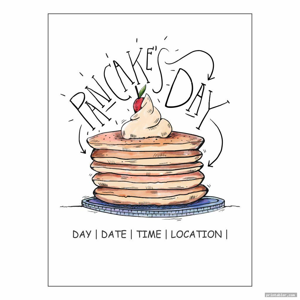 cute pancake breakfast flyer template printable
