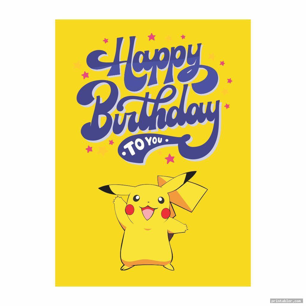 cute pokemon birthday cards printable