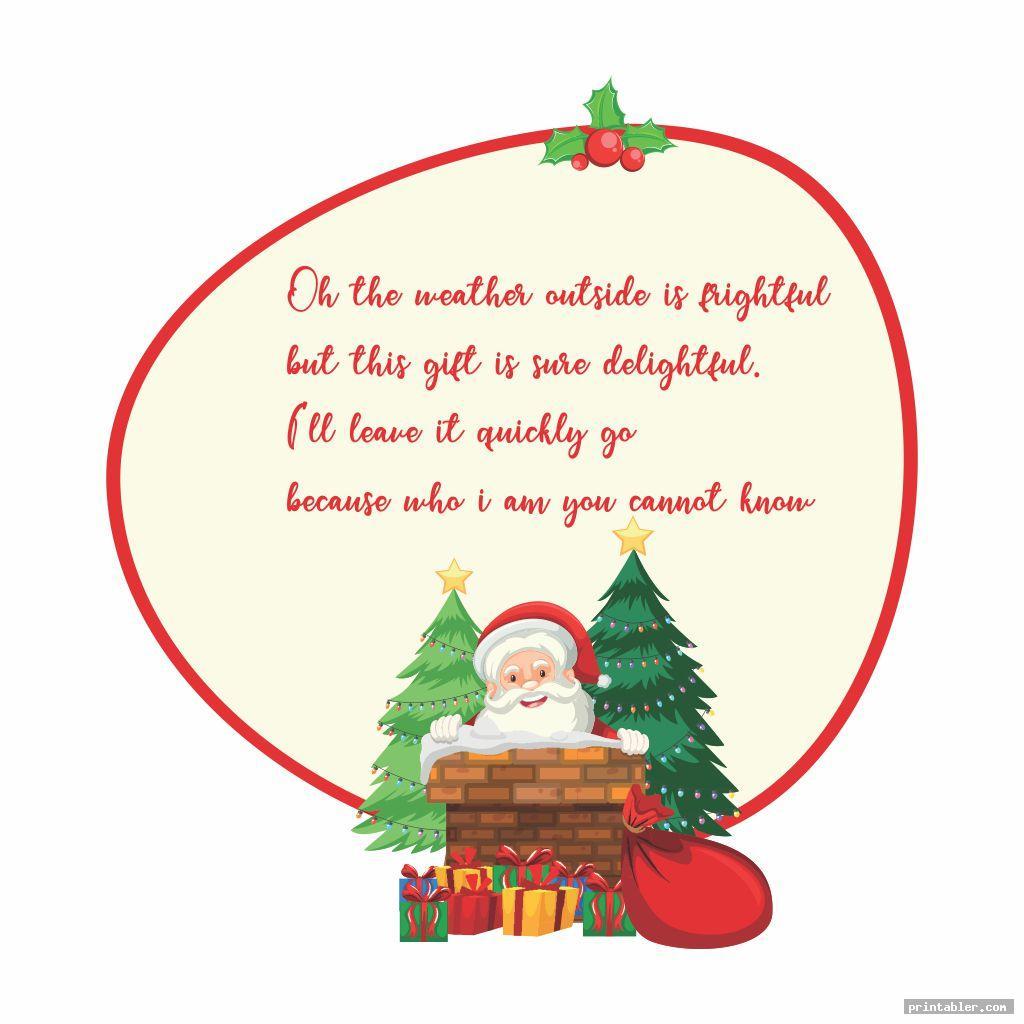 cute secret santa clues riddles printable