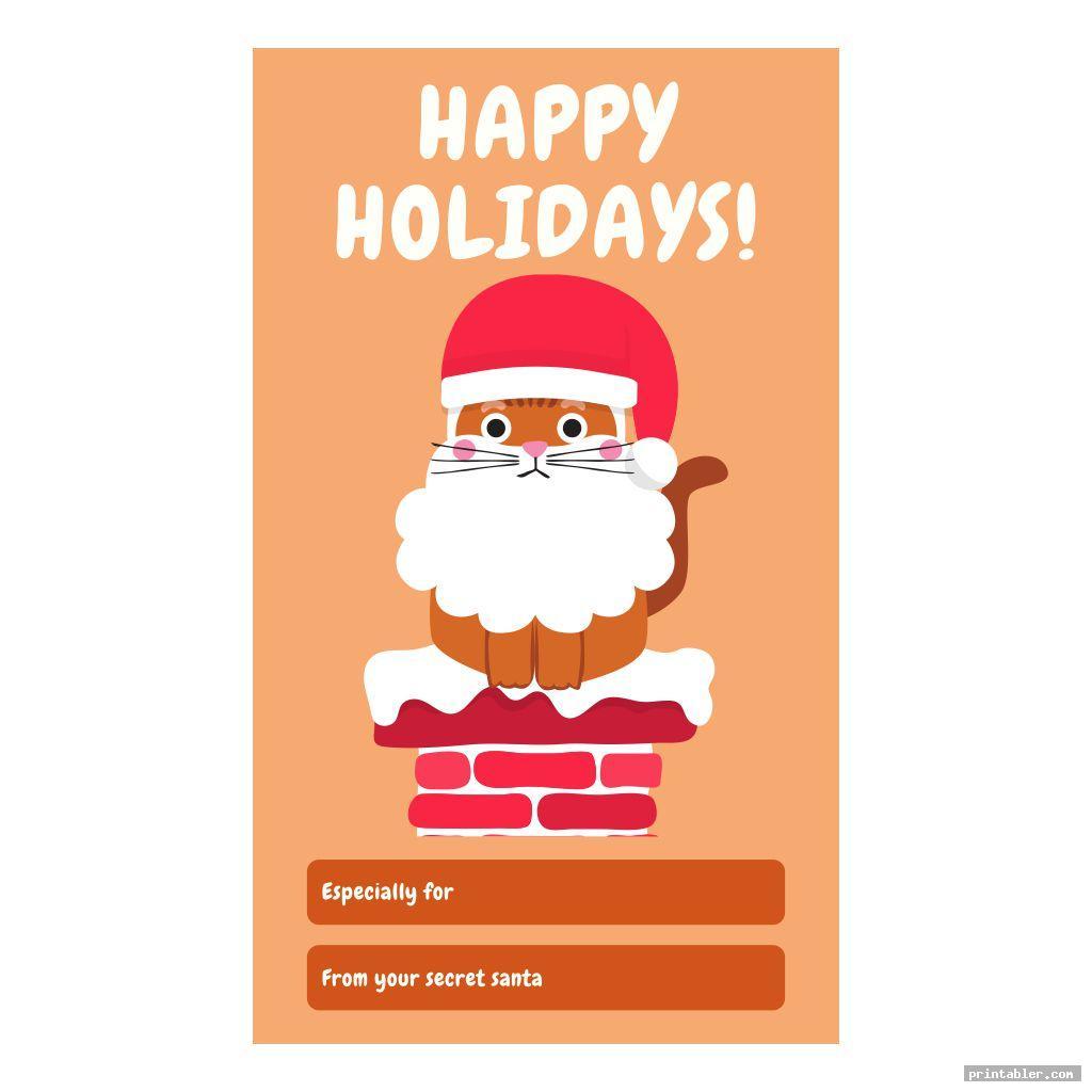 cute secret santa tags printable