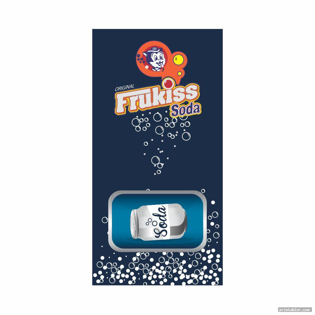 Soda Vending Machine Labels and Design Printable