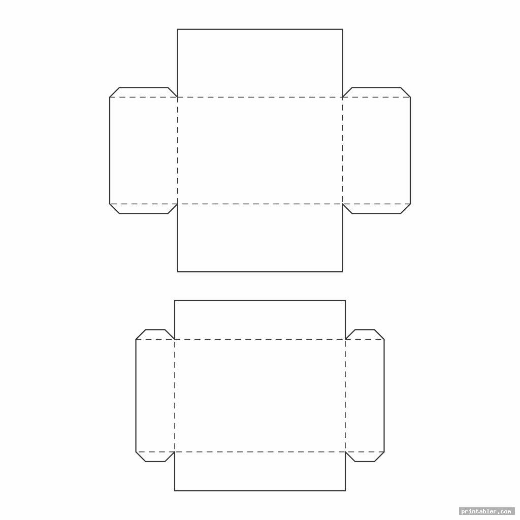 double large box template printable
