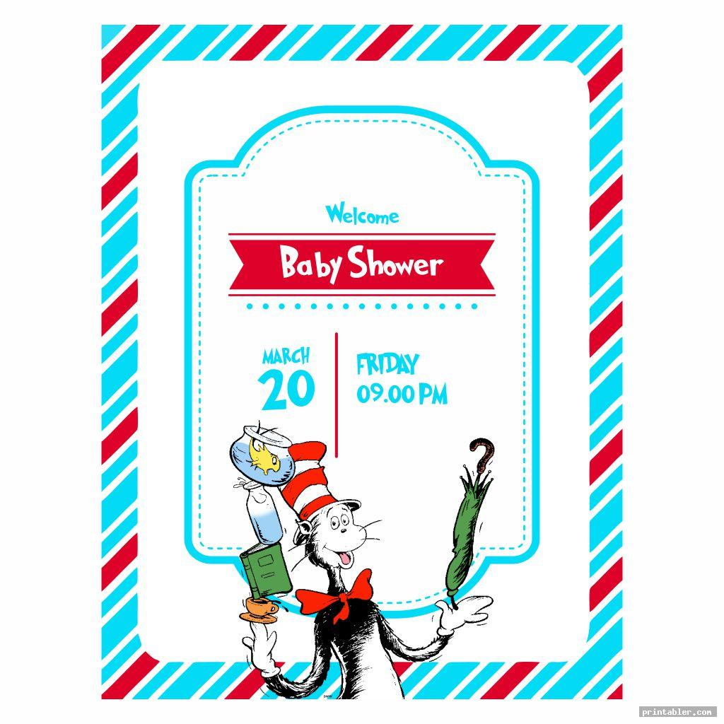 dr seuss baby shower invitation template printable image free