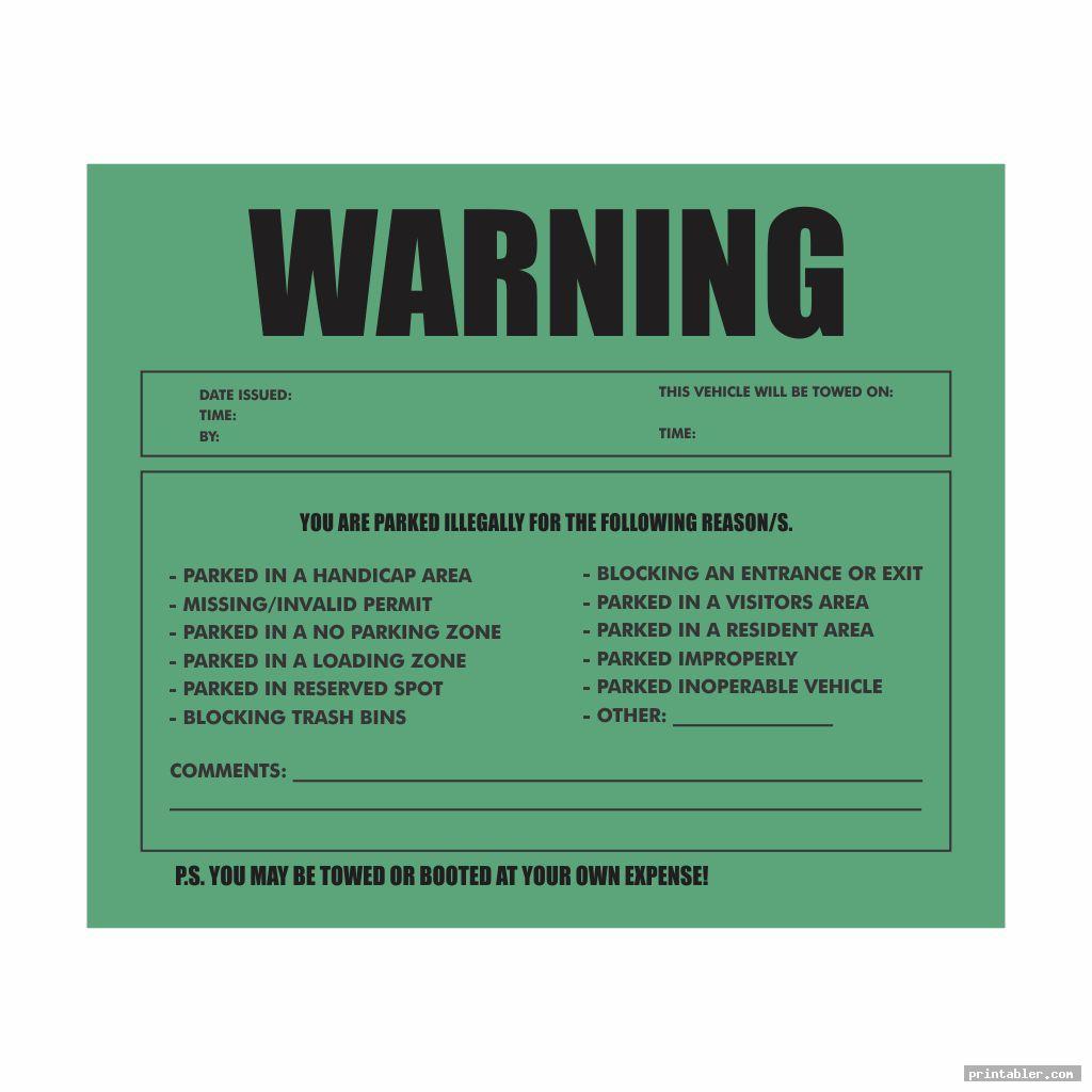 Fake Speeding Ticket Template Printable for Fun