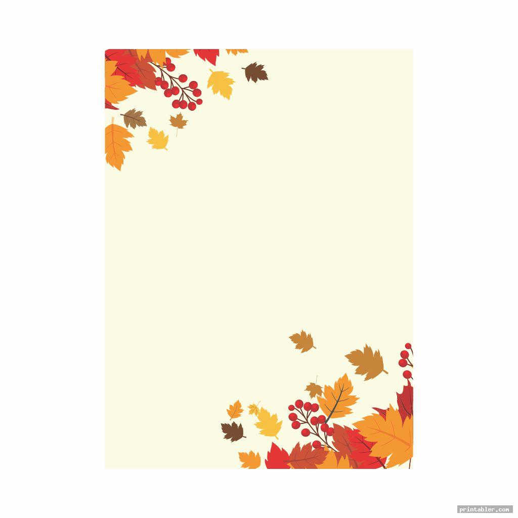 fall stationery template printable image free