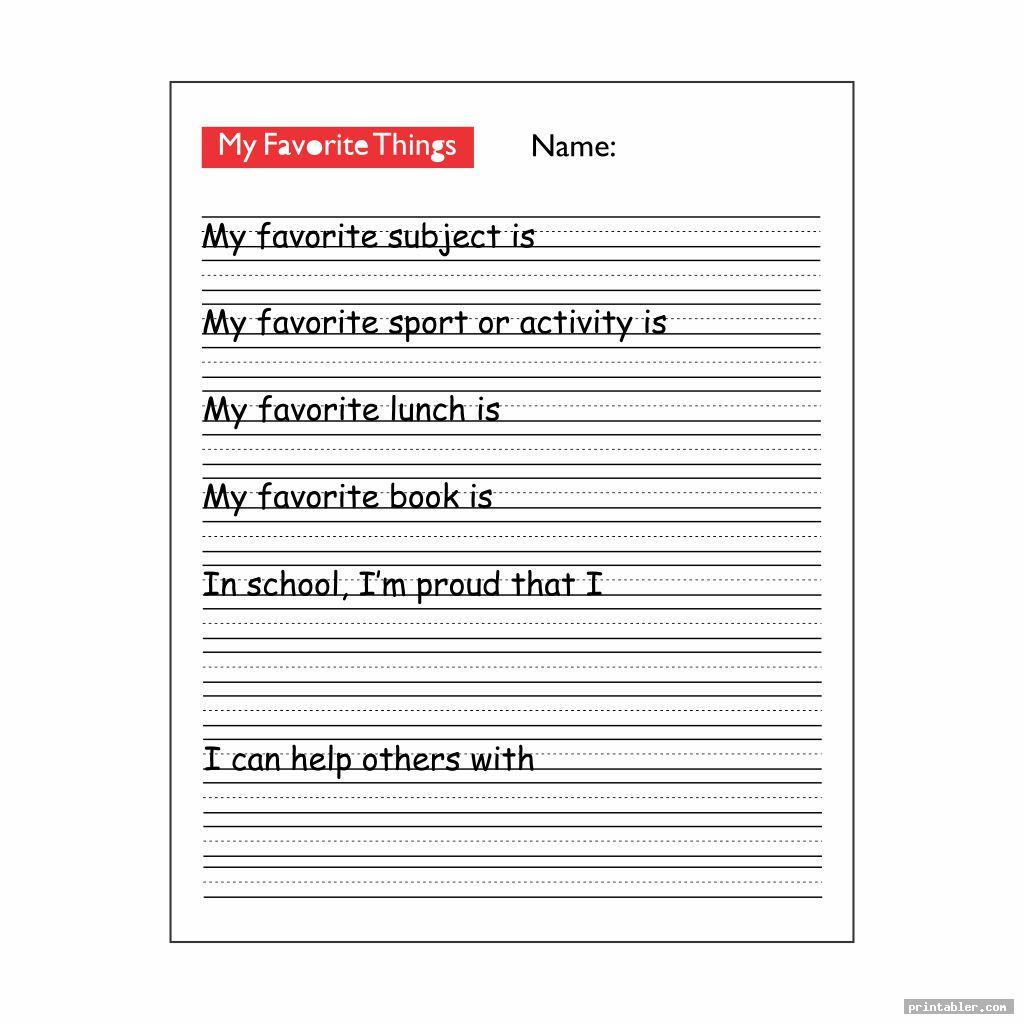 favorite things list template printable for kids