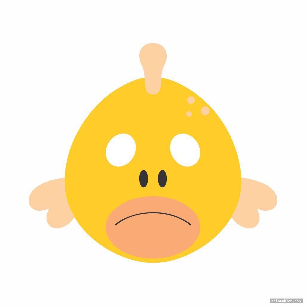fish mask template printable image free