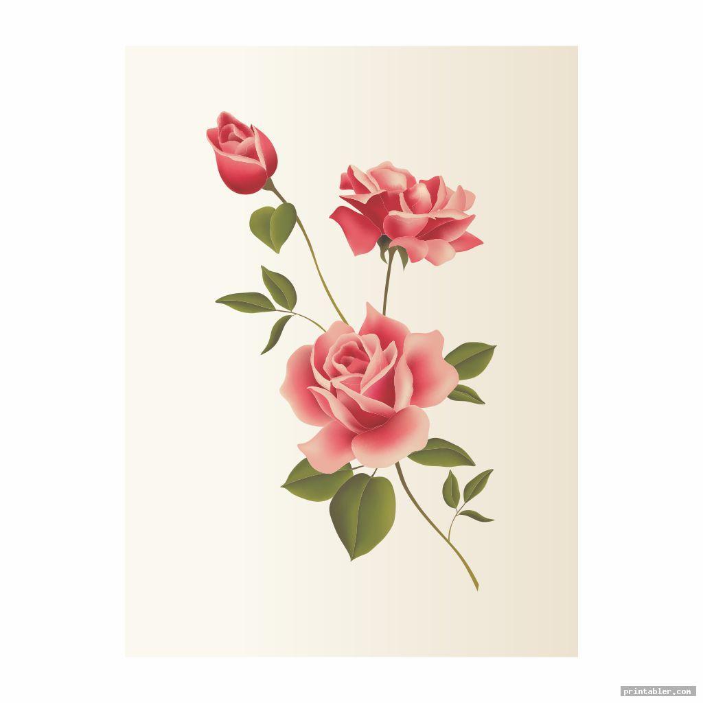flower decoupage printables