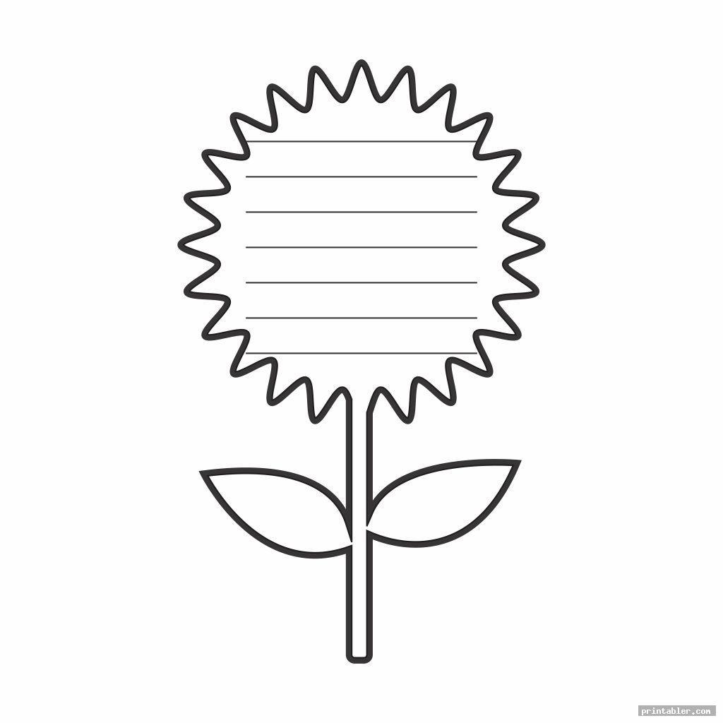 Flower Writing Template Printable