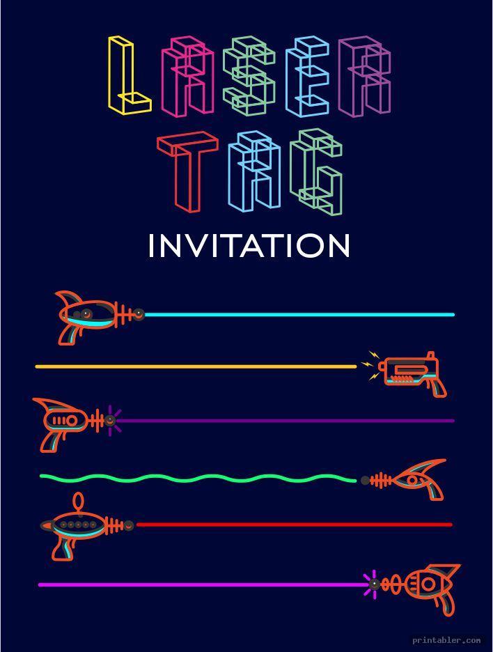 Laser Tag Invitations Printable