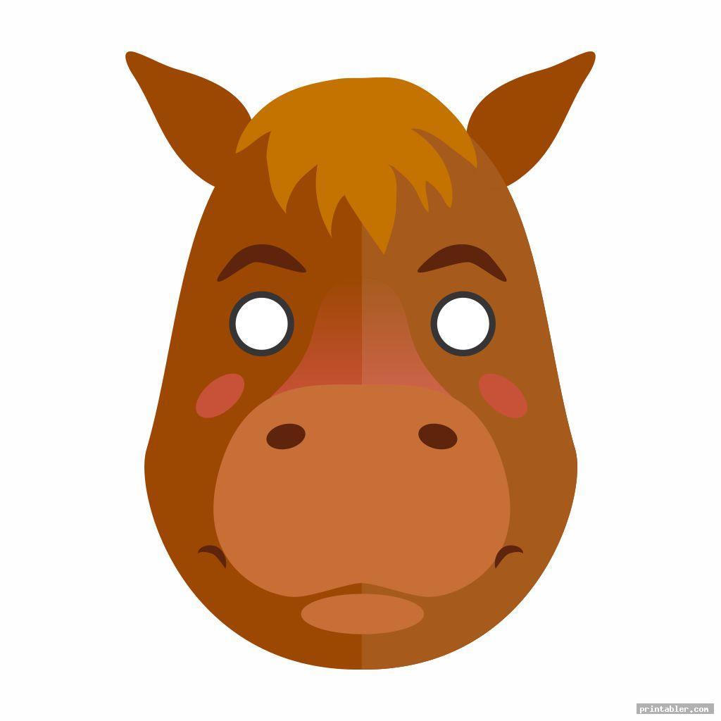 Cool Horse Mask Printable