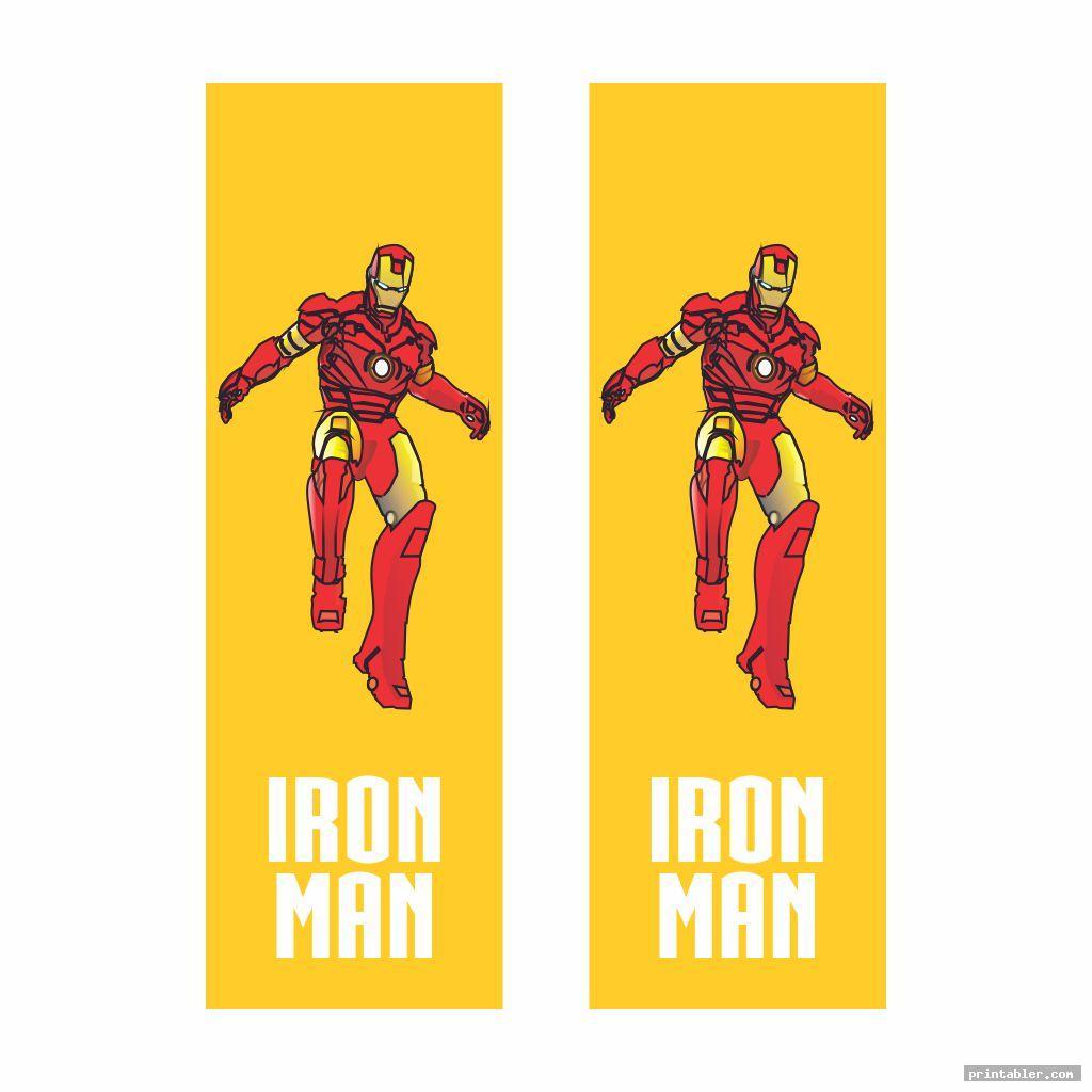 iron man superhero bookmarks printable