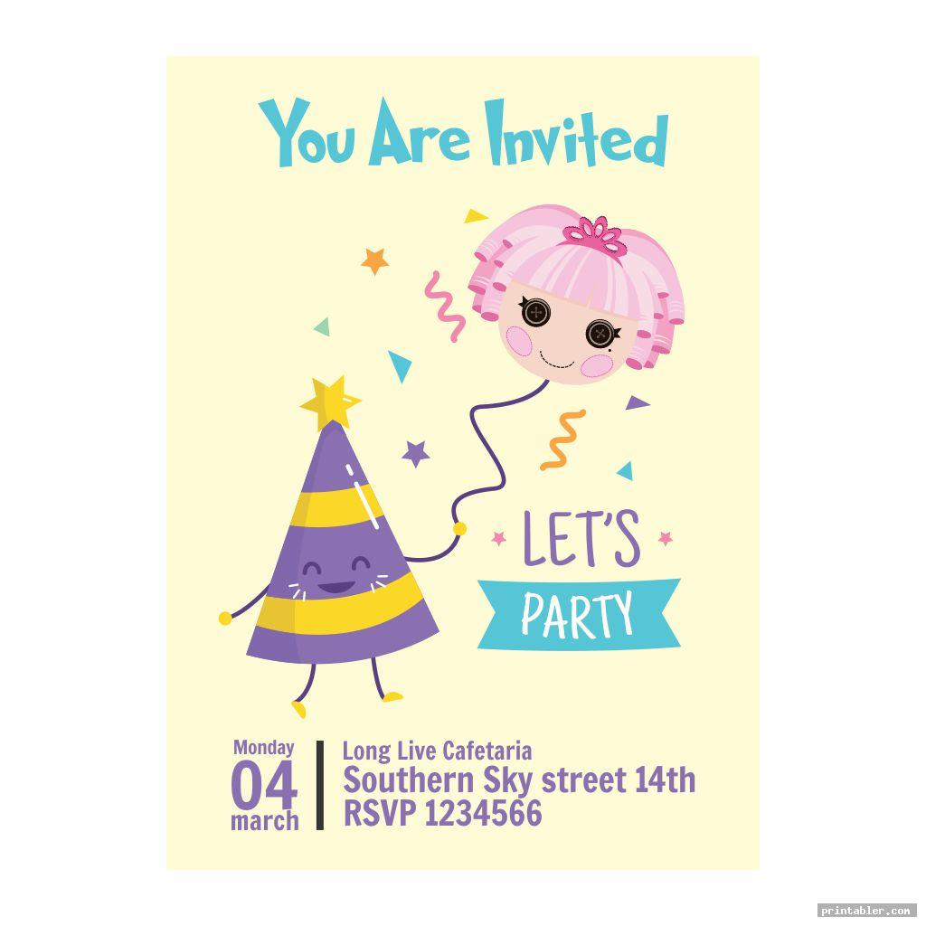 lalaloopsy birthday invitations printable image free