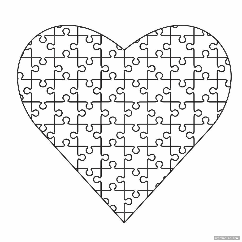 love puzzle pieces coloring pages printable