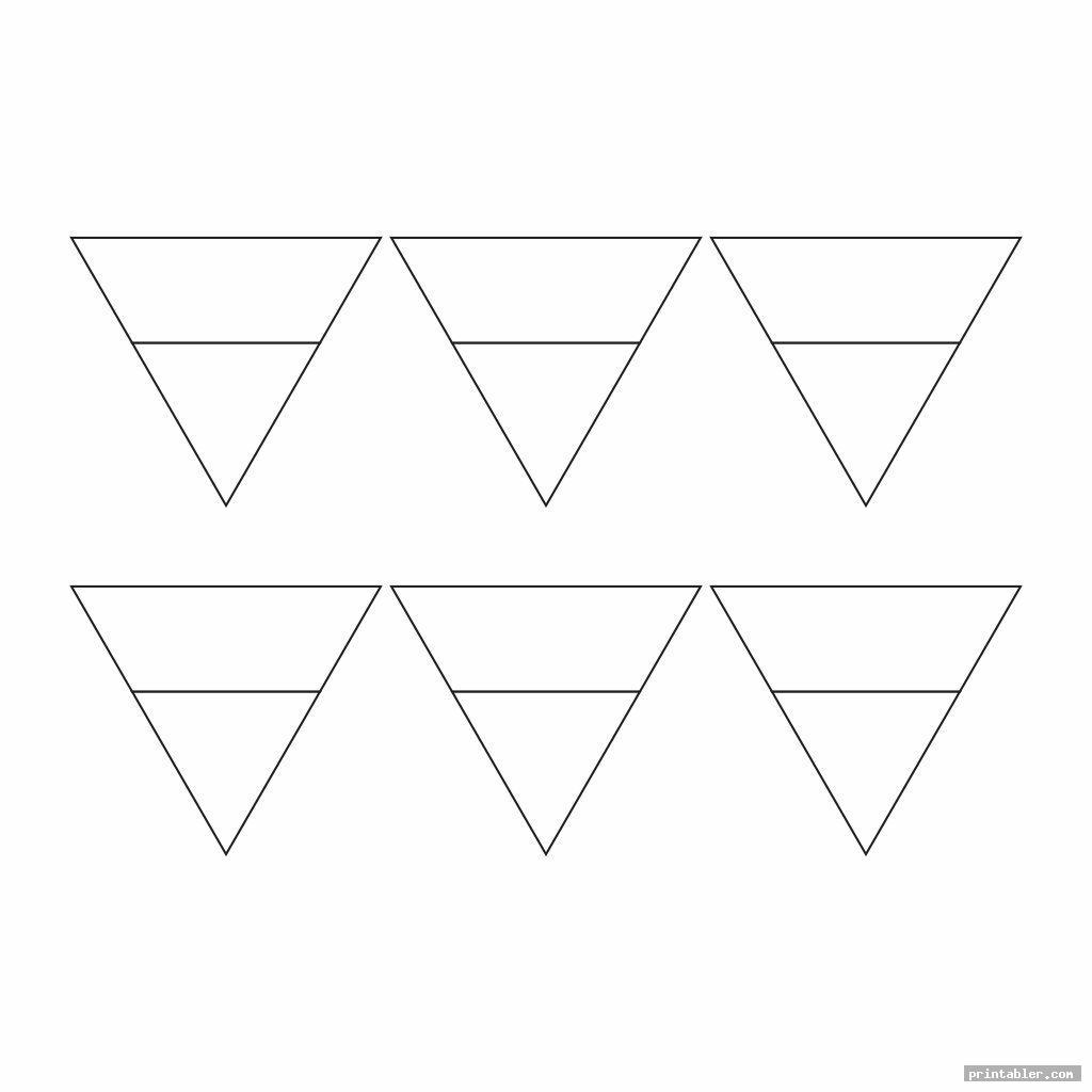 mini blank pennant template printable