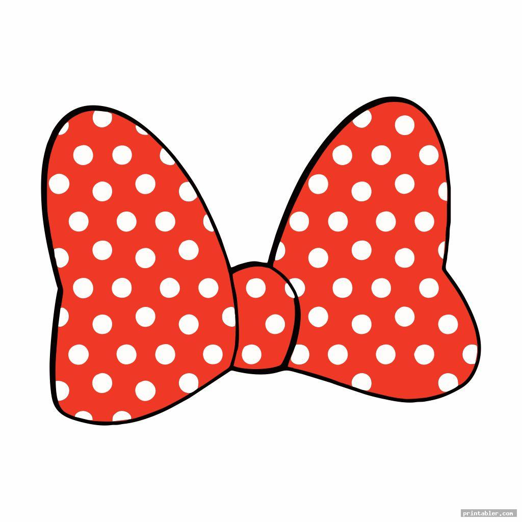 Minnie Mouse Bow Printable - Black White and Colored