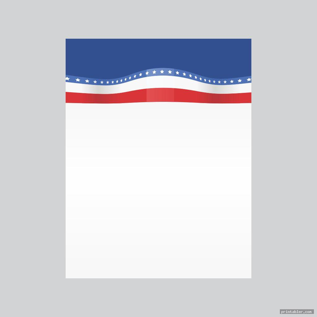 patriotic stationary printable image free