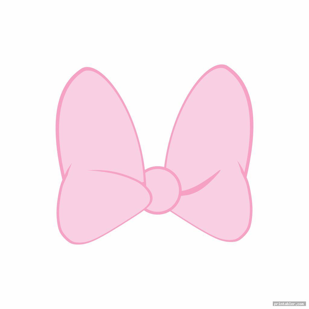 pink minnie mouse bow printable