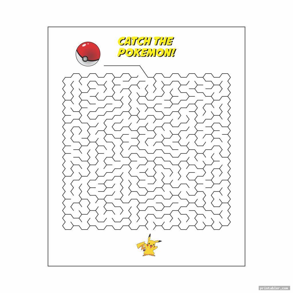 pokemon maze printable image free