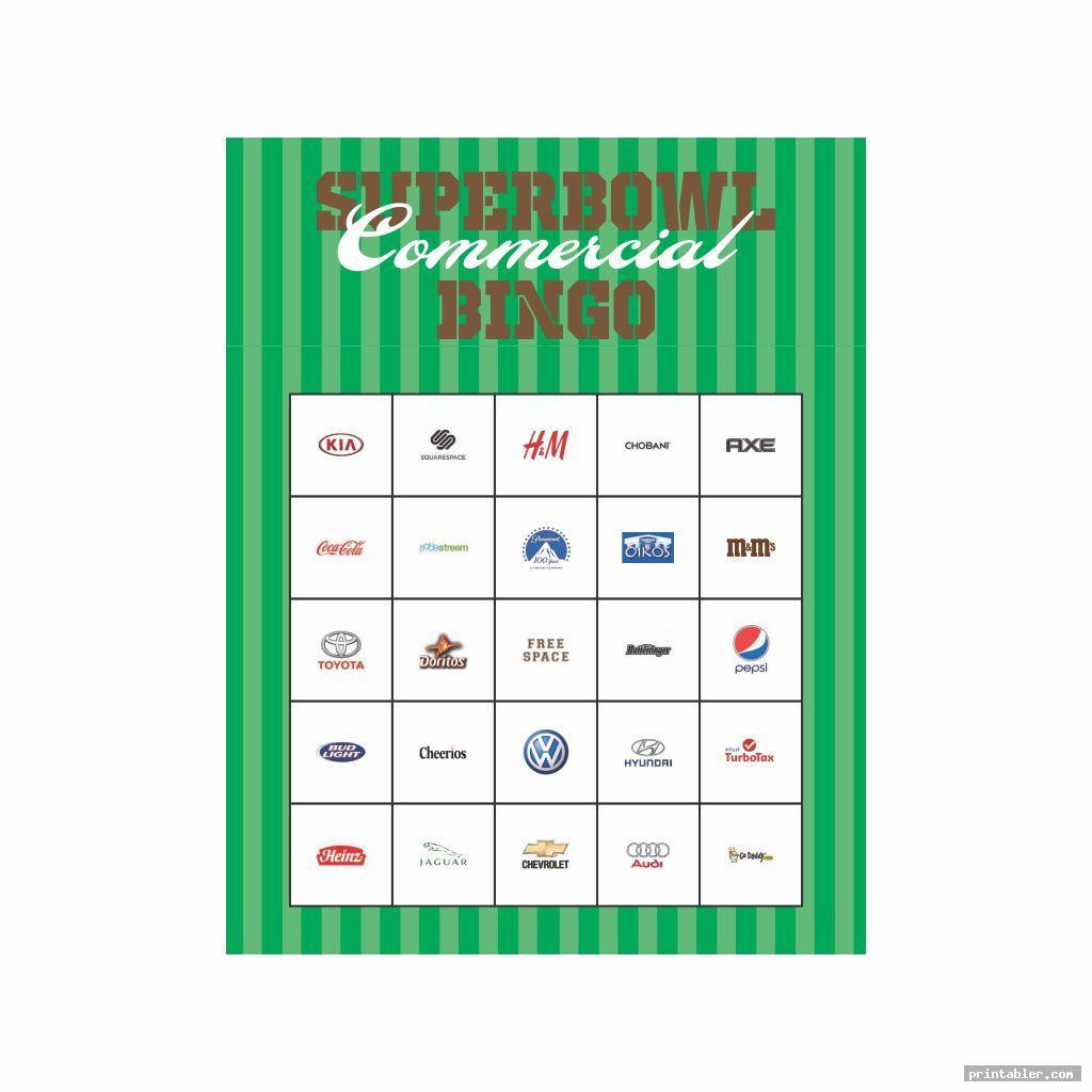 printable 2015 super bowl commercial bingo image free