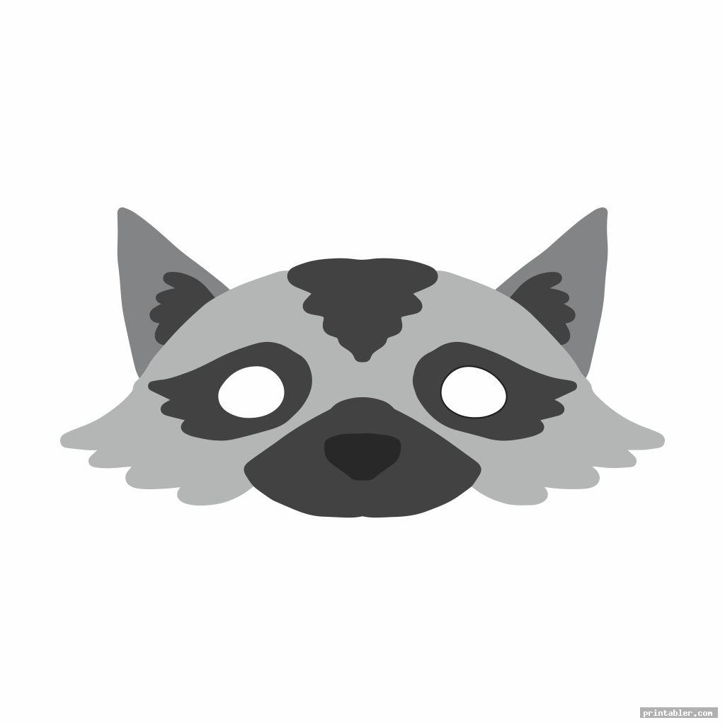 raccoon mask printable image free
