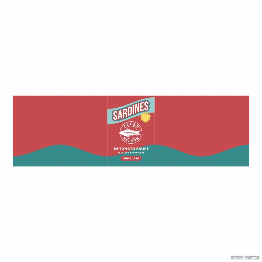 sardines soup can label template printable