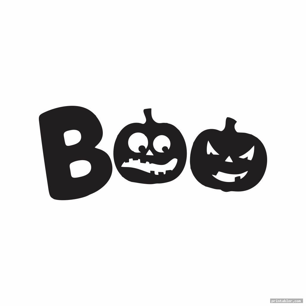 scary boo letters printable