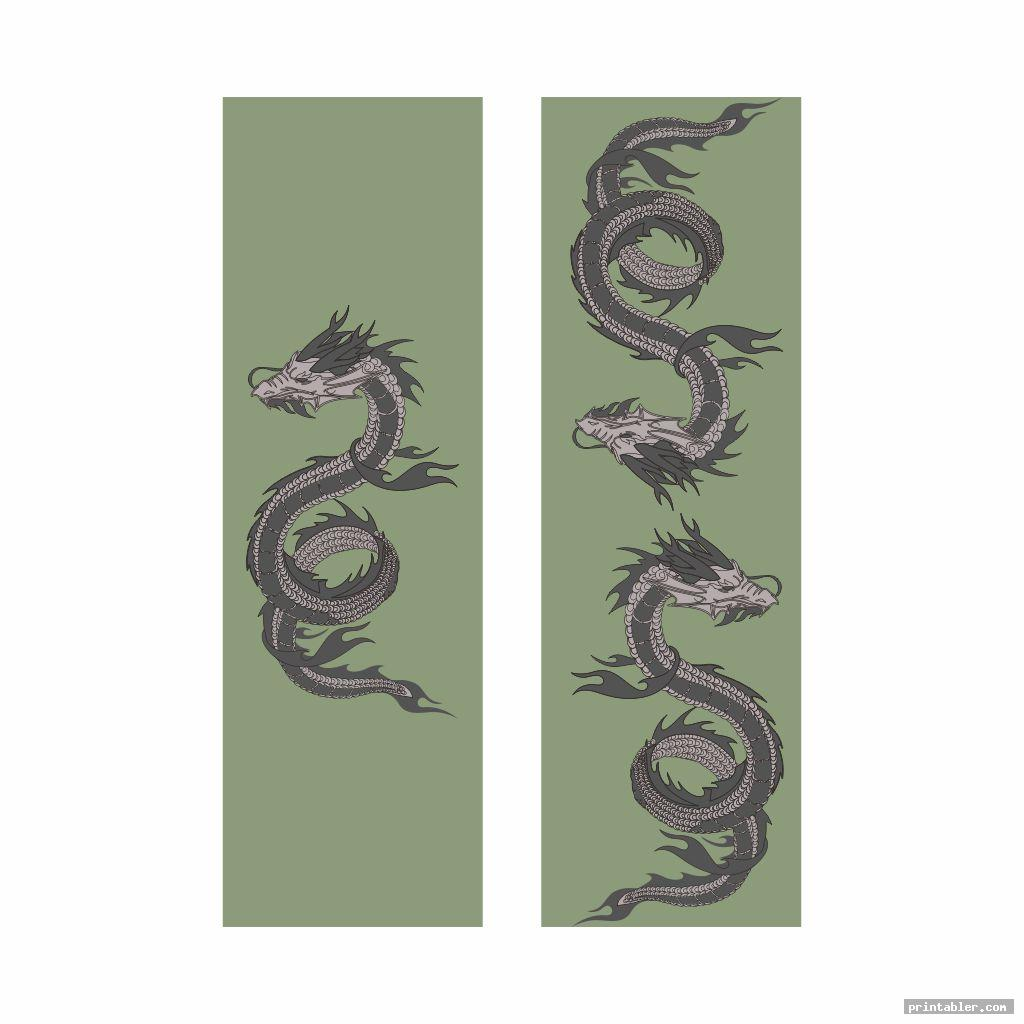 scary dragon bookmarks printable