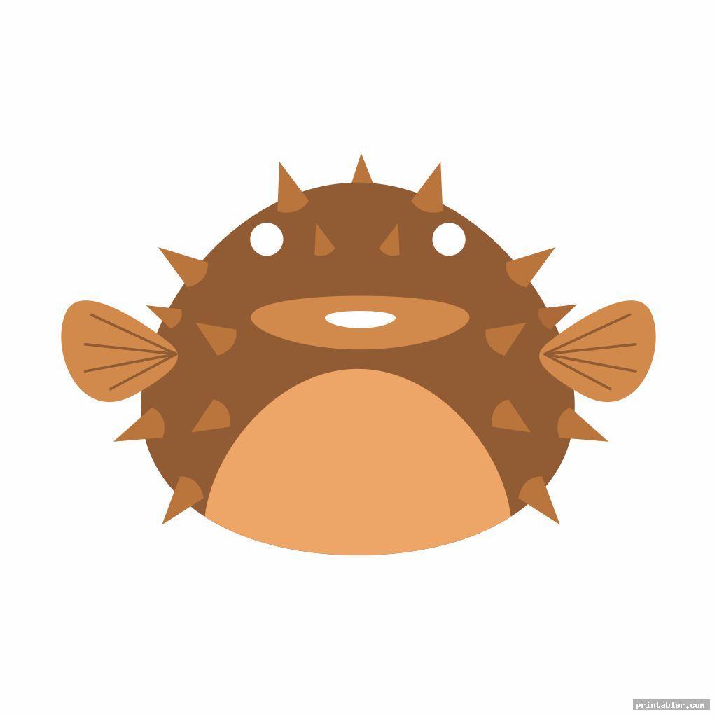 scary fish mask template printable