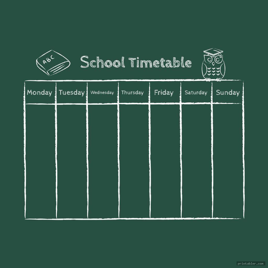 school timetable owl themed classroom s printable