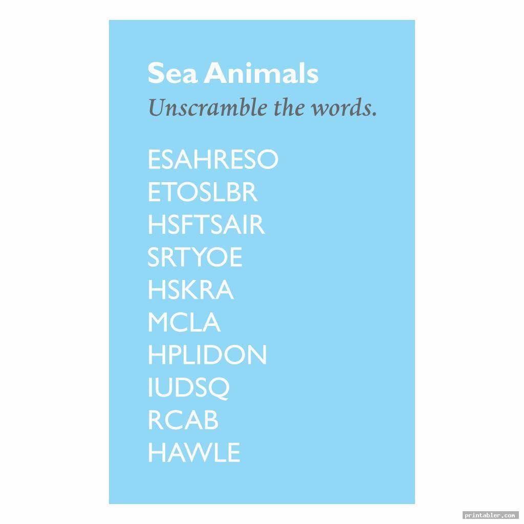scramble words brain games for seniors printable
