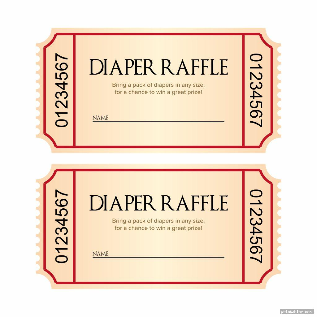 simple baby shower raffle tickets printable