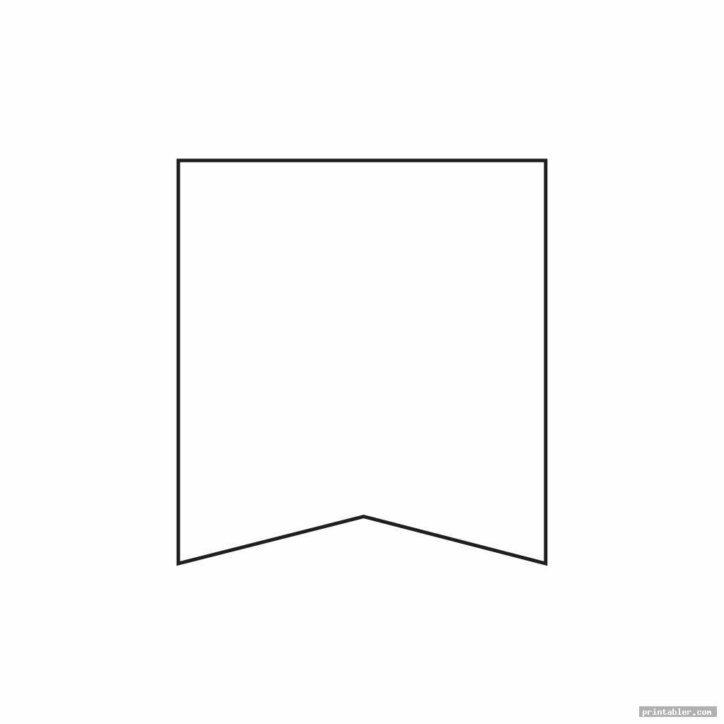 simple blank pennant template printable