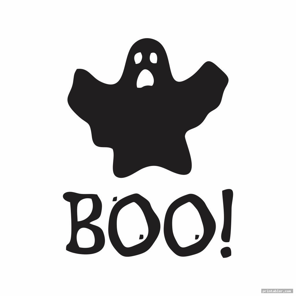 simple boo letters printable