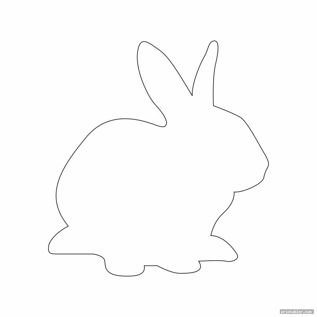 simple bunny outline template printable